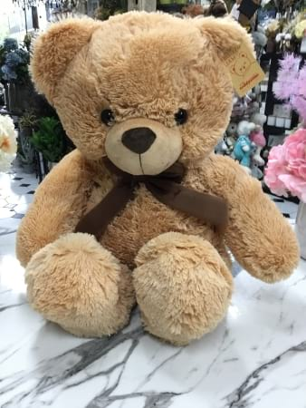 liam teddy large brown bear 46cm sitting height