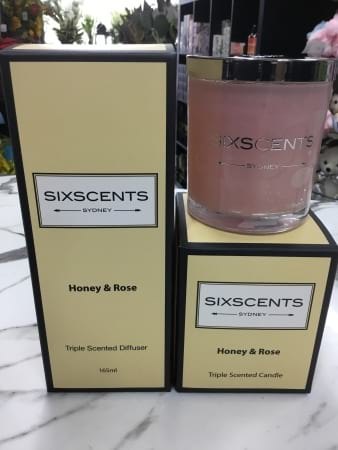 Sixscents candle and diffuser giftset of  2