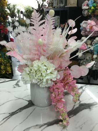 Pretty in pink artificial arrangement