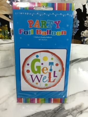 Get well helium filled balloon