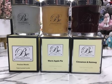 Be Enlightened christmas triple scented fragranced candles