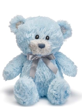 Forever my teddy Austen bear blue 25cm