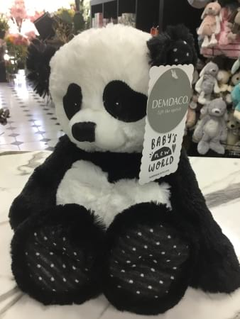 demdaco babys new world panda plush