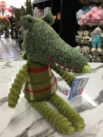 Crazy knotted crocodile  22cm sitting height
