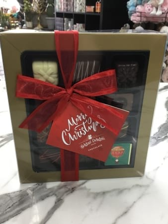 Belgian delights gift boxed christmas selection chocolates 180 grams