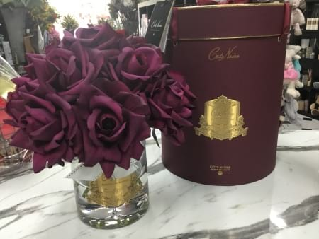 Cote Noire real touch rose vase scented with french parfum