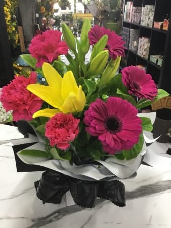 summer brights boxed arrangement