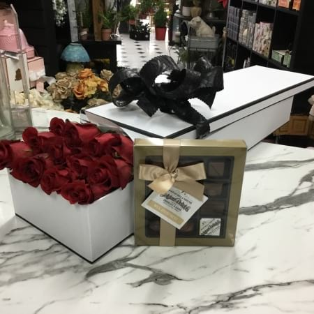 Box of 12 Roses and Chocolates