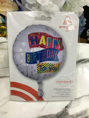 Happy birthday male helium filled balloon
