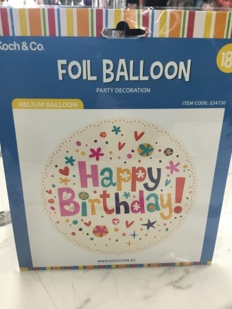 Happy birthday female helium filled balloon