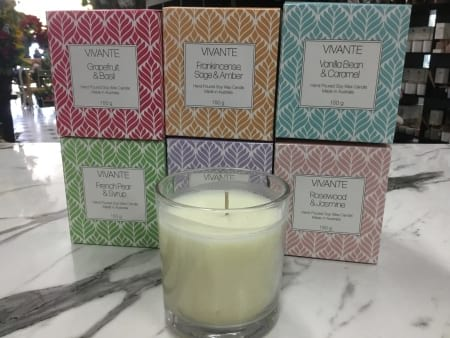 vivante 150 grams hand poured fragrant soy wax candle
